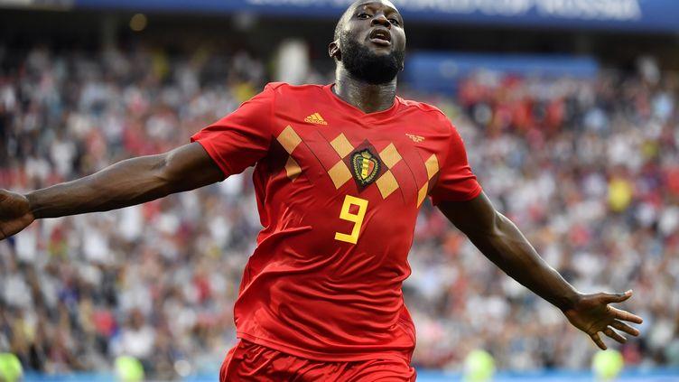 Le Belge Romelu Lukaku fête un but contre le Panama, le 18 juin 2018, à Sotchi (Russie). (DIRK WAEM / BELGA MAG / AFP)