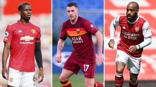 Alexandre Lacazette, Jordan Veretout et Paul Pogba vont disputer les demi-finales de la Ligue Europa. (AFP)