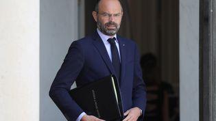 Le Premier ministre, Edouard Philippe, quitte l'Elysée, le 17 juillet 2019. (LUDOVIC MARIN / AFP)