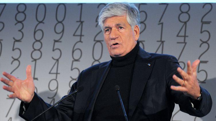 Maurice Lévy, le patron de Publicisen tête du classement des rémunérations de dirigeants en 2011,établi par Proxinvest, grâce àbonus exceptionnel de 16 millions d'euros. (ERIC PIERMONT / AFP)