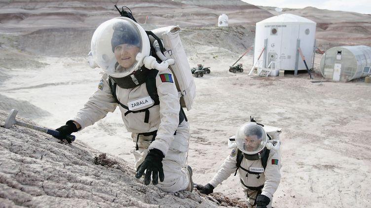 Baptisée Mars Desert Research Station, la base abrite un centre d'études sur les technologies spatiales, géré par la Mars Society, une organisation internationale à but non lucratif. (GEORGE FREY / GETTY IMAGES NORTH AMERICA)