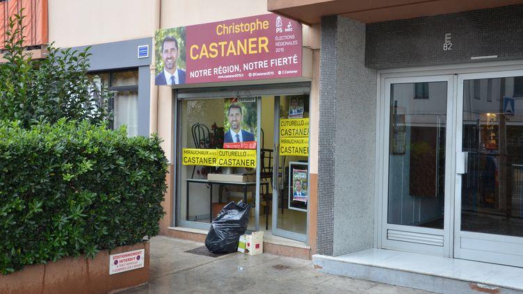 La permanence de la section du Parti socialiste de Nice-Ouest (Alpes-Maritimes), le 7 décembre 2015. (THOMAS BAIETTO / FRANCETV INFO)
