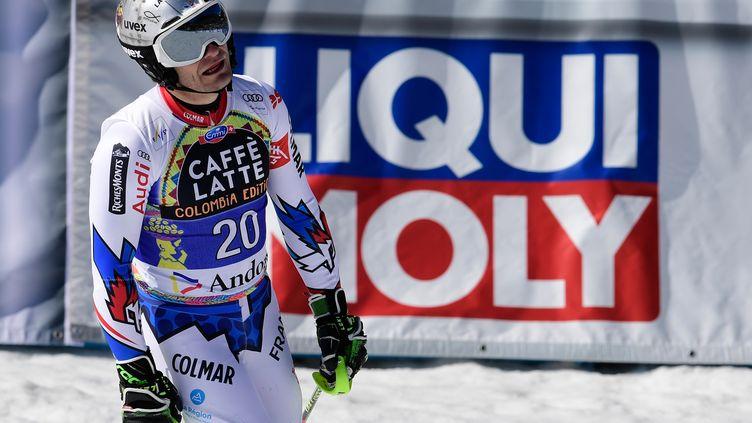 Julien Lizeroux annonce sa fin de carrière, le 25 janvier 2021 (JAVIER SORIANO / AFP)