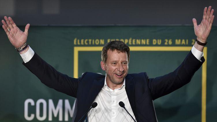 Yannick Jadot après l'annonce des résultats des élections européennes le 26 mai 2019 à Paris. (STEPHANE DE SAKUTIN / AFP)