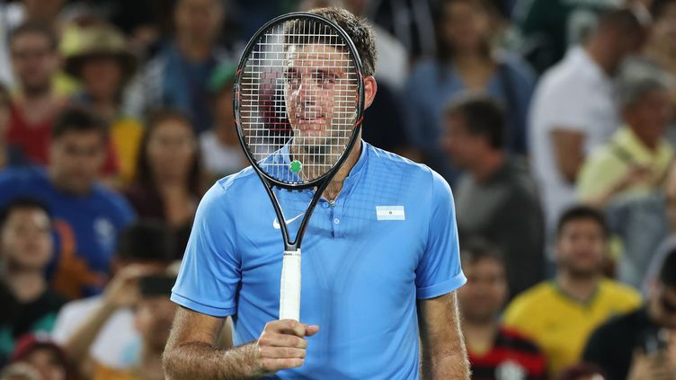 Juan Martin Del Potro après sa victoire contre Novak Djokovic. (OKAN OZER / ANADOLU AGENCY)