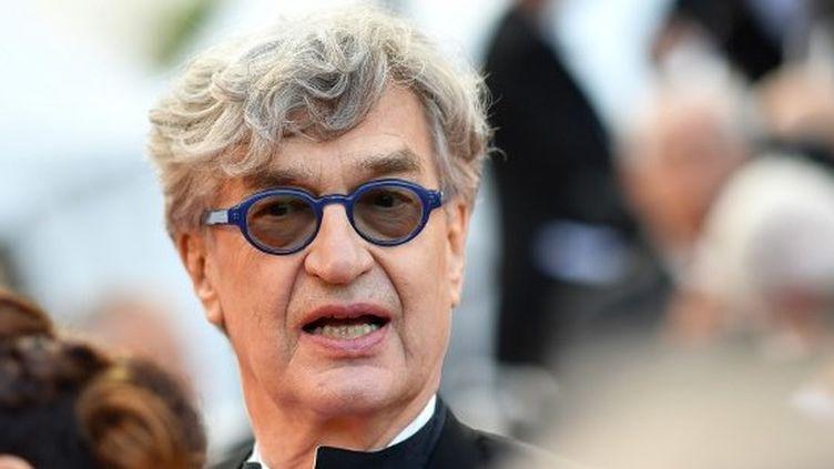 Wim Wenders à la 71e édition du Festival de Cannes pour la présentation de son documentaire sur le Pape François.  (Alberto PIZZOLI / AFP)