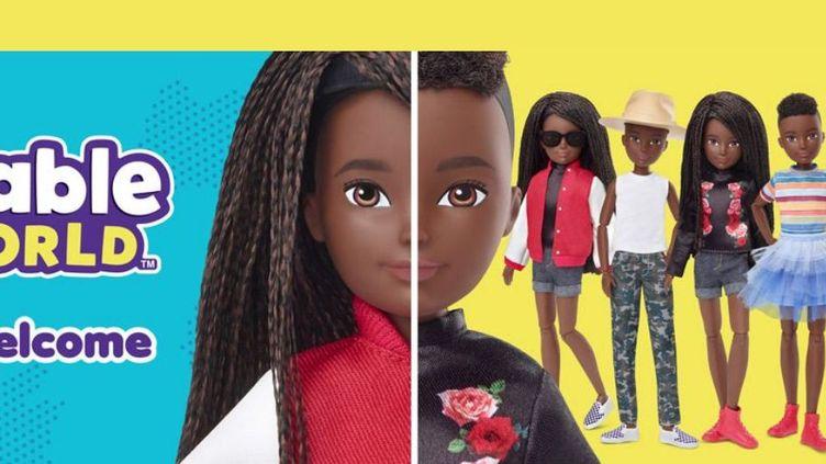 Capture d'écran du site de Mattel présentant la nouvelle gamme de poupées non genrées. (MATTEL)