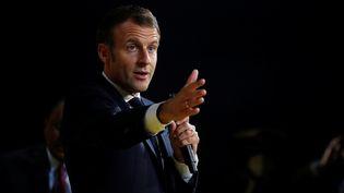 Le président de la République, Emmanuel Macron, le 1er octobre 2020 à Paris. (GONZALO FUENTES / AFP)