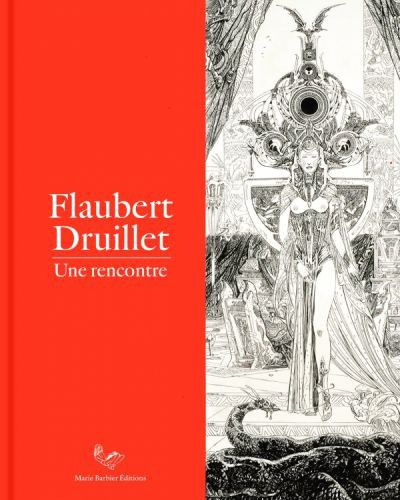 """Flaubert Druillet une rencontre"" : 1re de couverture  (Marie Barbier Editions)"
