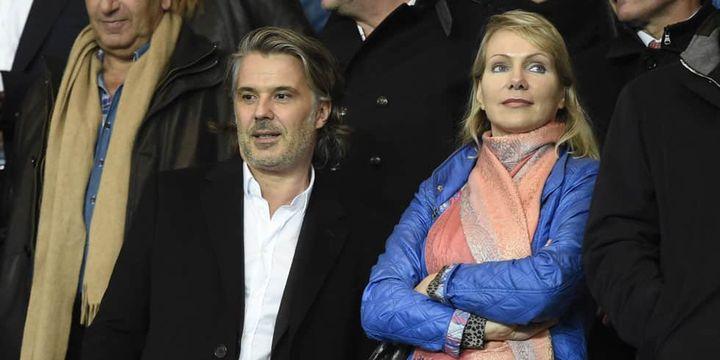 Vincent Labrune, le président de l'OM, a côté de la propriétaire, Margarita Louis-Dreyfus