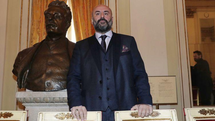 """Le metteur en scène d'opéra Davide Livermore à la Scala de Milan : il présente """"Attila"""" pour l'ouverture de la saison  (Antonio Calanni / AP / SIPA)"""