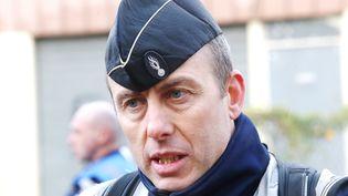Le gendarme Arnaud Beltrame s'est substitué vendredi 23 mars 2018 à une otage retenue dans le Super U de Trèbes (Aude). (MAXPPP)