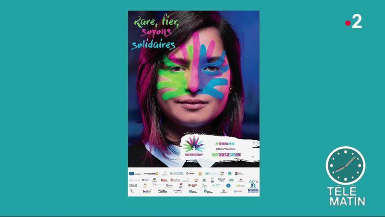 L'affiche de la campagne de lutte contre les maladies rares (France 2)