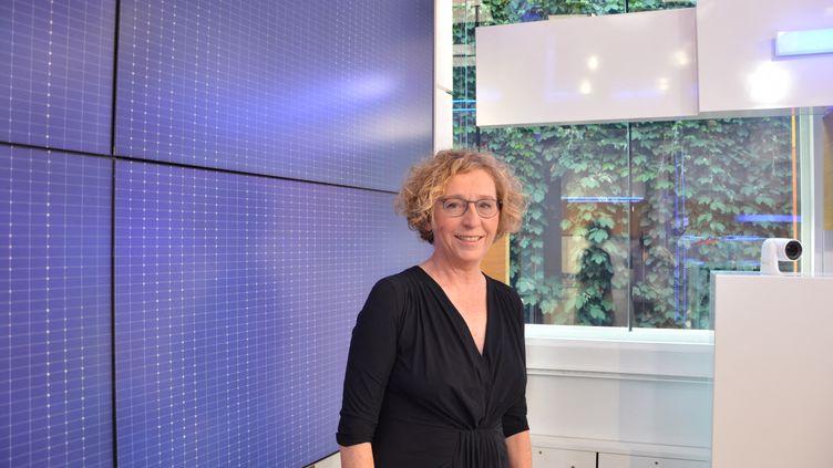 Muriel Pénicaud, ministre du Travail, invitée defranceinfo le 3 août 2018. (JEAN-CHRISTOPHE BOURDILLAT / RADIO FRANCE)