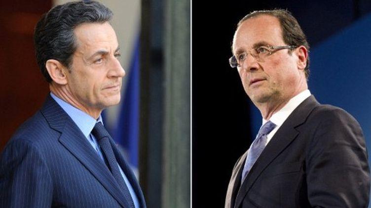 François Hollande et Nicolas Sarkozy seront face-à-face le 6 mai (AFP)