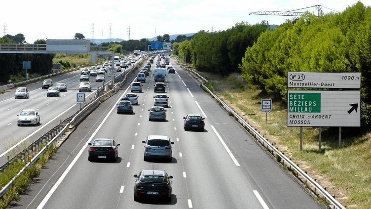 (L'autoroute A9, à la hauteur de Montpellier. © MaxPPP /)