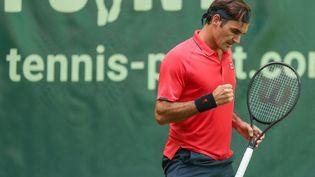 Roger Federera battu Ilya Ivashka en deux sets au premier tour de Halle, le 14 juin 2021. (FRISO GENTSCH / DPA)