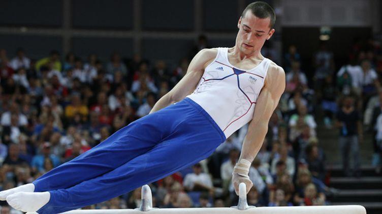 Cyril Tommasone sur le cheval d'arçons (THOMAS COEX / AFP)