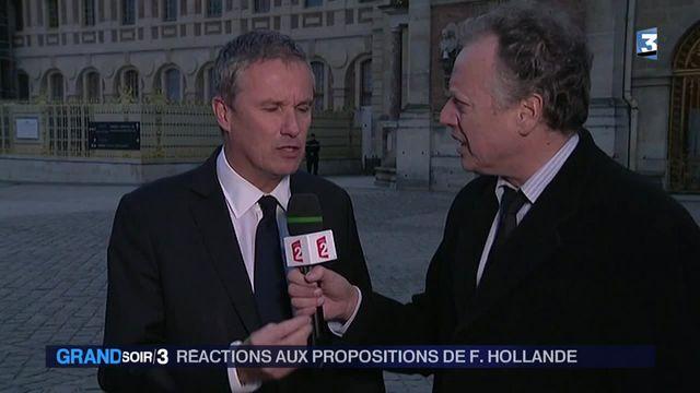 les réactions à l'intervention de François Hollande