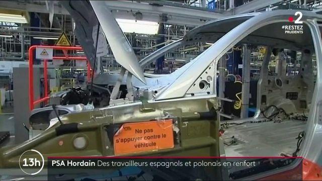 PSA : des travailleurs espagnols et polonais en renfort