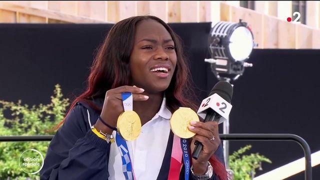 Jeux olympiques : la double championne olympique de judo, Clarisse Agbegnenou n'en revient toujours pas