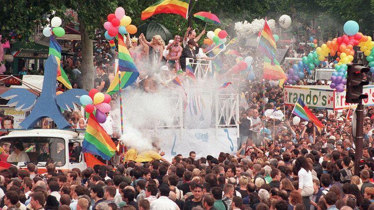 La 40e Gay Pride, ou Marche des fiertés, se déroulera le samedi 24 juin à Paris. (JOEL SAGET / AFP)