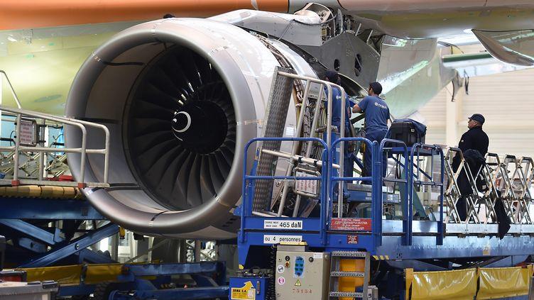 Des salariés d'Airbus à Toulouse en mars 2018. (PASCAL PAVANI / AFP)