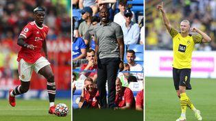 Paul Pogba, Erling Haaland et Patrick Vieira ont connu des retours à la compétition contrastés. (AFP)