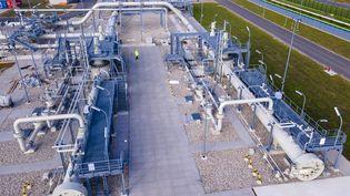 Le projet de gazoducNord Stream 2 a pour but de relier la Russie à l'Allemagne via la mer baltique (5 Novembre 2020);. (JENS BUTTNER / DPA-ZENTRALBILD)
