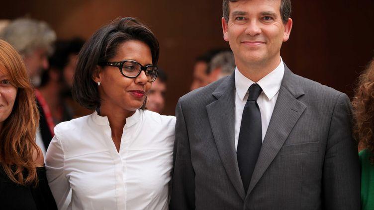 Audrey Pulvar et Arnaud Montebourg à Perpignan (Pyrénées-Orientales), le 2 septembre 2011. (LANCELOT FREDERIC / SIPA)