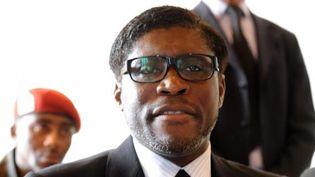 Le ministre de l'Agriculture et fils du président équato-guinéen, Teodorin Obiang Nguema, le 24 janvier 2012, à Bata (Guinée-Equatoriale). (ABDELHAK SENNA / AFP)