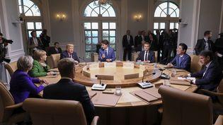 Les dirigeants du G7 sont réunis à La Malbaie, au Canada, le 8 juin 2018. (LUDOVIC MARIN / POOL / AFP)
