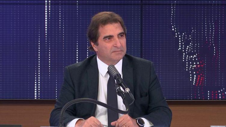 Christian Jacob, président du parti Les Républicains, sur franceinfo le 19 novembre 2020. (FRANCEINFO / RADIOFRANCE)
