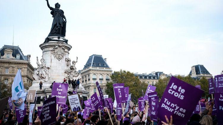 Manifestationcontre lesviolencessexistes et sexuelles, le 23 novembre 2019 à Paris. (Elko Hirsch / Hans Lucas / Hans Lucas via AFP)