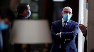 Eric Ciotti, député Les Républicains (au milieu),rapporteur de la commission d'enquête de l'Assemblée nationale sur la gestion de la pandémie de Covid-19, à l'Assemblée nationale, à Paris, le 12 mai 2020. (GONZALO FUENTES / AFP)