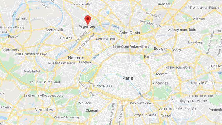 La ville d'Argenteuil dans le Val d'Oise. (GOOGLE MAPS)