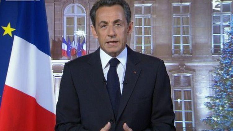 Voeux de Nicolas Sarkozy du 31 décembre 2010 (DESK / FRANCE 2 / AFP)