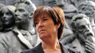 Mona Sahlin, alors à la tête du Partisocial-démocrate, à Stockholm (Suède), le 16 septembre 2010. (JONATHAN NACKSTRAND / AFP)