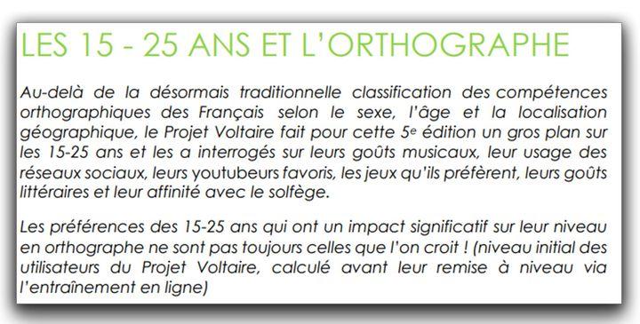 Introduction de la première partie du Baromètre Voltaire (page 4), publié le 4 décembre 2019. (CAPTURE ECRAN BAROMETRE VOLTAIRE)
