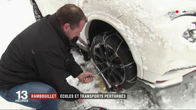 Neige : transports interrompus et école suspendue à Rambouillet