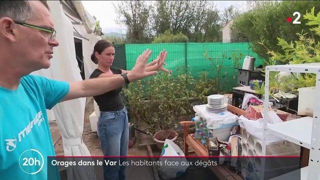 Var : les habitants face aux dégâts du violent orage qui s'est abattu à Pignans