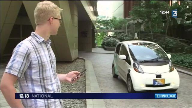 Singapour a testé les premiers taxis sans chauffeur