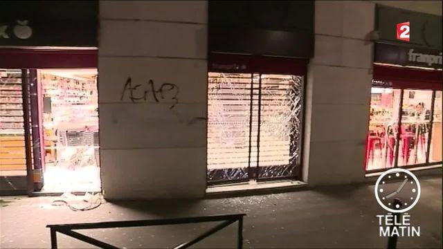 Les dégâts causés par les casseurs à Paris