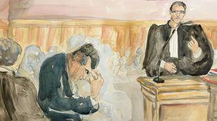 Jérôme Cahuzac devant le tribunal correctionnel de Paris, le 14 septembre 2016. (ELISABETH DE POURQUERY / FRANCEINFO)