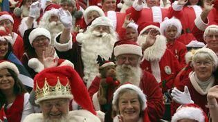 (Le congrès mondial des pères Noël se tient tous les étés à Copenhague. © Jeff Moore/MAXPPP)