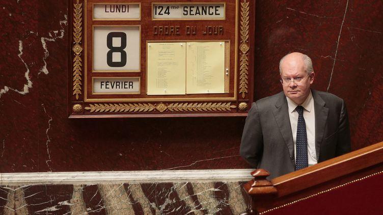 Yves Colmou, conseiller du Premier ministre, assiste aux débats à l'Assemblée nationale, le 8 février 2016. (JACQUES DEMARTHON / AFP)