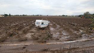 A La Londe-Les-Maures (Var) après les inondations, le 28 novembre 2014. (  MAXPPP)