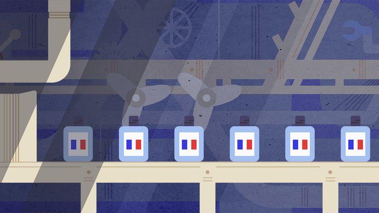 La relocalisation s'accompagne souvent d'une grande robotisation des process de fabrication et d'une montée en gamme. (JESSICA KOMGUEN / FRANCEINFO)