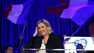 Marine Le Pen en meeting à Amiens (Somme), le 23 novembre 2015. (PASCAL ROSSIGNOL / REUTERS)