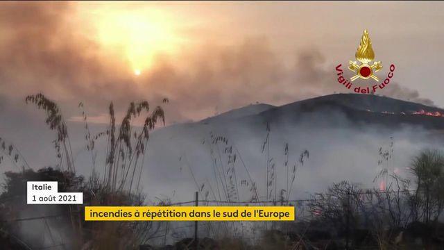 Incendies : le sud de l'Europe victime des flammes